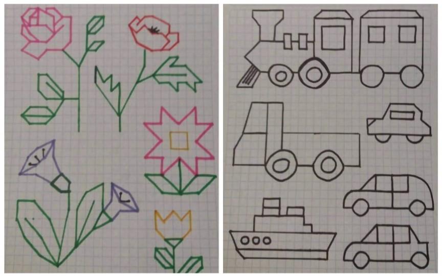 Desene simple pentru preșcolari, pe care să le facă pe caietul în pătrățele