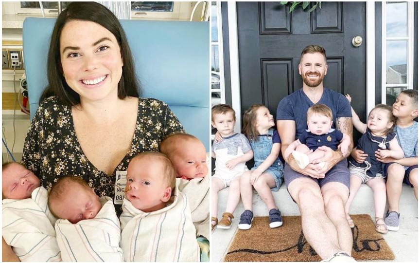 Povestea a doi tineri care nu mai sperau că vor deveni părinți – 9 copii, în doar trei ani