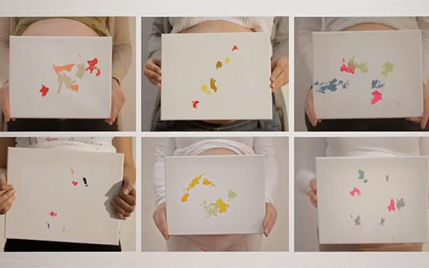 Picturi realizate de copiii care încă nu s-au născut (Video)