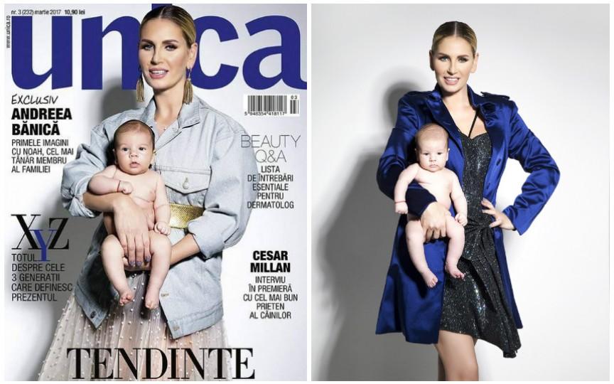 Andreea Bănică și-a prezentat pentru prima dată fiul. Ce spune artista despre el
