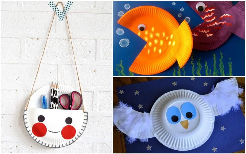Distrează-ți copilul și confecționați împreună obiecte inedite din farfurii de plastic