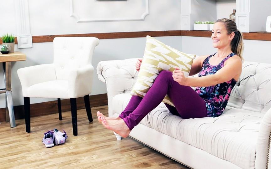 EXERCIŢII simple: Slăbește pe canapea