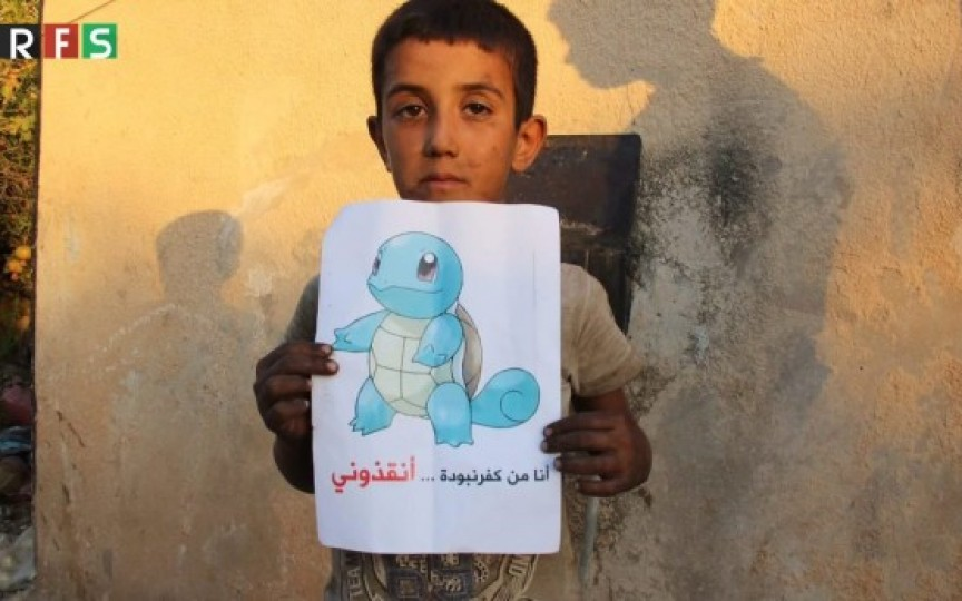 Imagini sfâșietoare, copiii din Siria cer ajutor prin intermediul jocului Pokemon Go