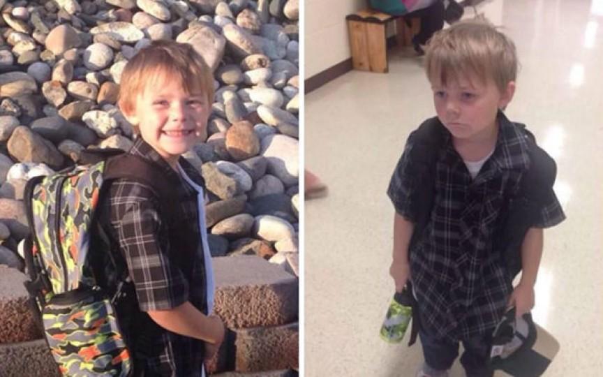 Cum arată copiii înainte și după prima zi de școală