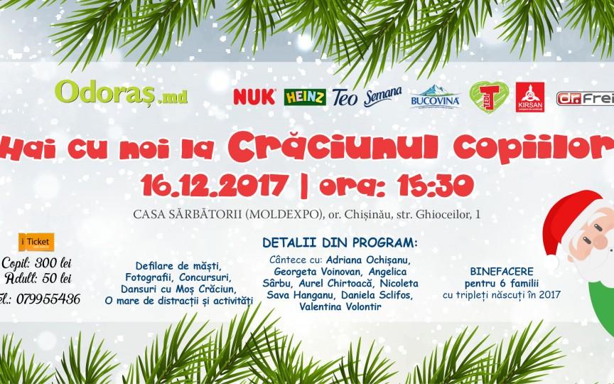 Hai cu noi la Crăciunul Copiilor 2017 - cel mai mare bal de sărbători!