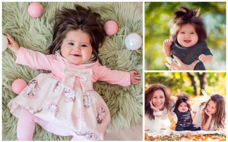 (FOTO) Fetița care la doar 1 an uimește cu podoaba ei capilară. Vezi cum arăta la naştere!