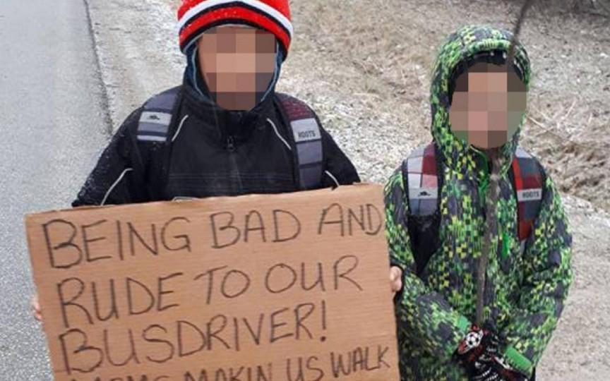 Cum o mamă și-a pedepsit copiii care s-au comportat oribil cu șoferul autobuzului școlar. Aprobați asta?