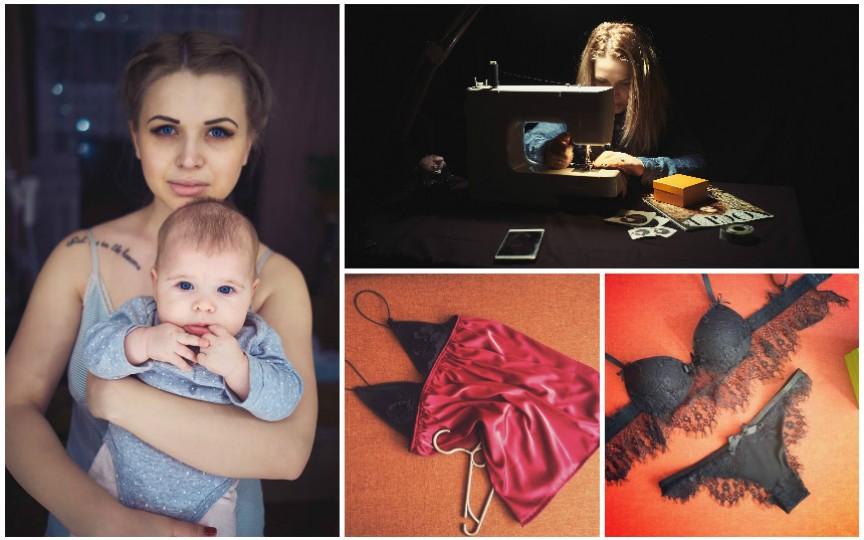 O tânără mămică creează seturi de lenjerie senzaționale