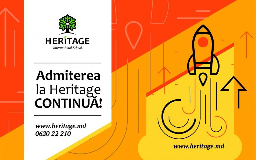 A început admiterea la Școala Internațională Heritage: Numărul locurilor disponibile este limitat
