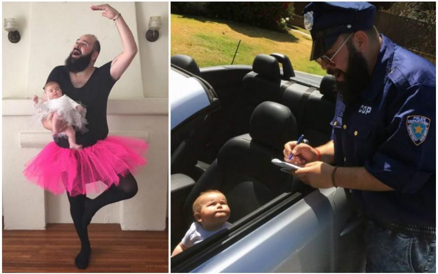 Amuzant: cum un tată își deghizează fetița de numai 9 luni
