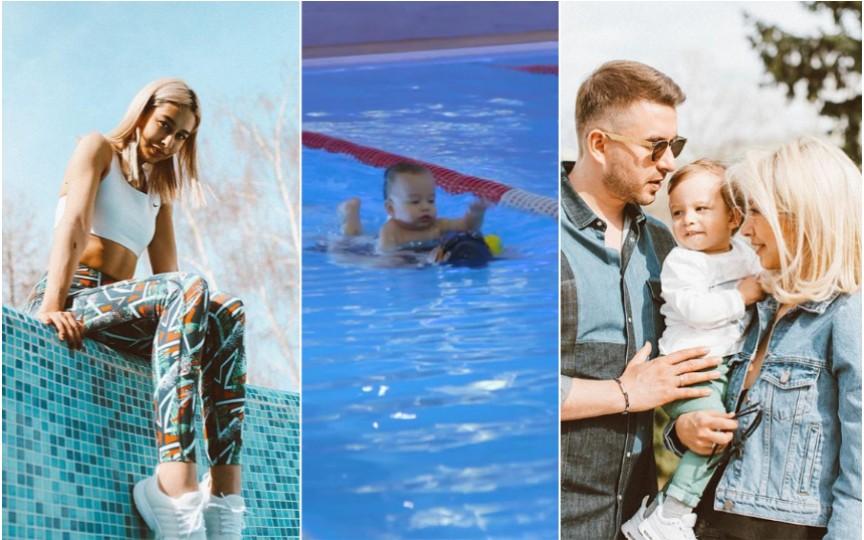 (VIDEO) Bloggerița Daniela Culev spune de ce și-a dat fiul la înot
