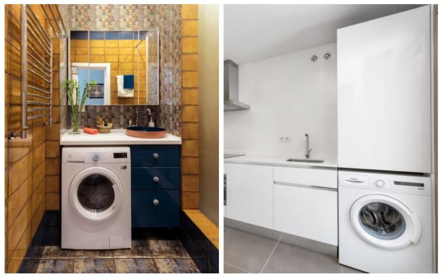 Idei pentru casă: unde instalăm mașina de spălat dacă avem puțin spațiu