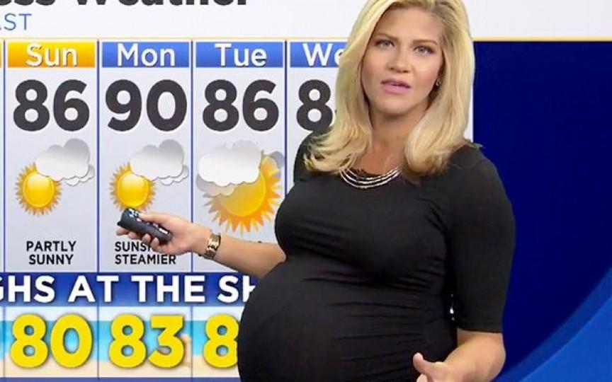 Mesajul unei prezentatoare meteo către cei care au jignit-o pentru că este gravidă