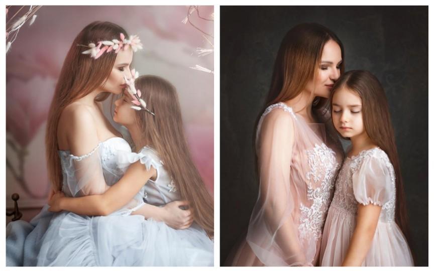 Ana Cernicova apare cu fetița sa, Amelia Uzun, într-o sesiune foto foarte gingașă de primăvară