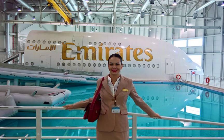 O zi din viața moldovencei stewardesă la cea mai mare companie de zbor din Orientul Mijlociu