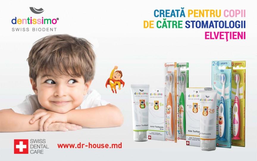 Dentissimo - pasta de dinți perfectă pentru cei mici
