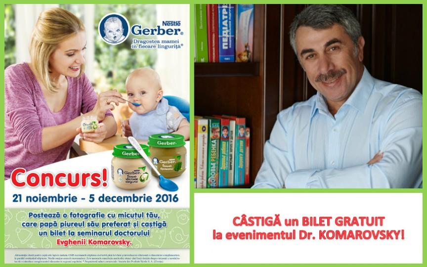 CONCURS de la Nestle! Câștigă un bilet VIP la seminarul lui Dr. Komarovsky