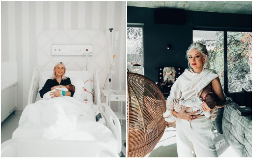 (Video) Bloggerița Alina Ceușan dezvăluie în detaliu cum a decurs nașterea fiului său