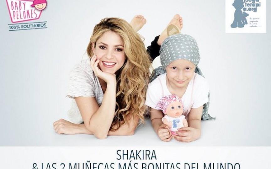Shakira a lansat păpușa fără păr pentru copiii bolnavi de cancer