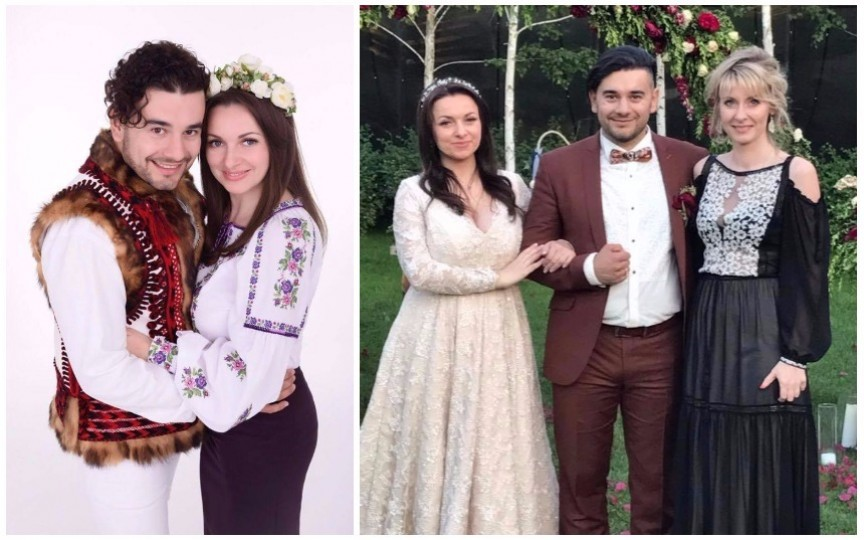 Conducătorul formației Tharmis, Valentin Uzun, joacă nunta în aceste momente