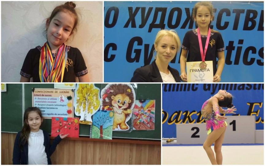 O zi din viața unei mici gimnaste ce are de două ori mai multe medalii decât ani