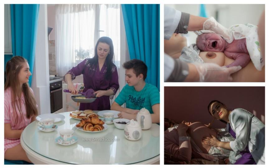 Fotografii impresionante: 24 de ore din viața unui medic care asistă nașterile în Moldova