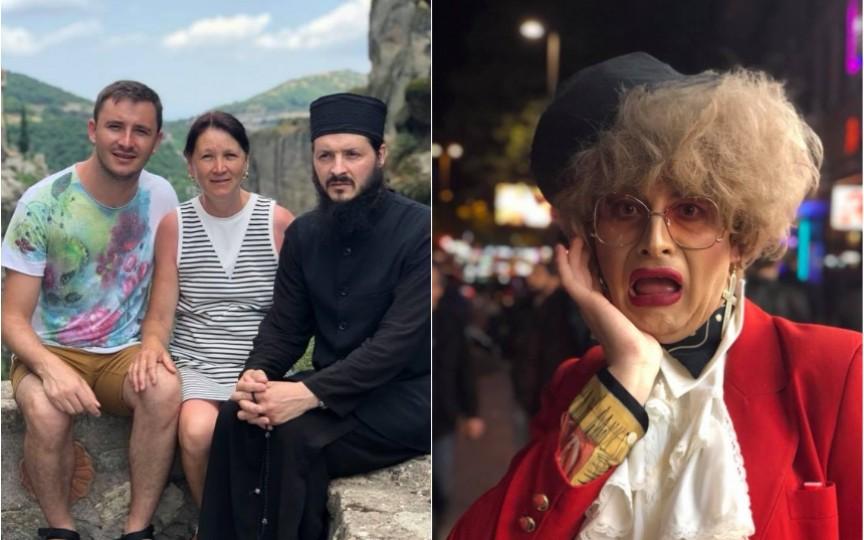 Emilian Crețu în vizită la fratele lui călugăr. Cât de mult seamănă cei doi