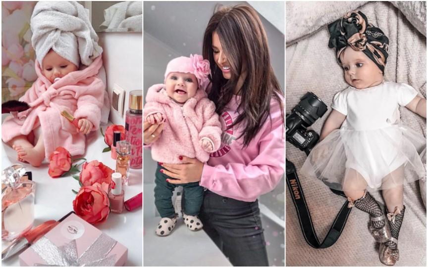 La 6 luni, fiica bloggeriței Doina Stratan are cont de instagram și cochetează cu modelingul