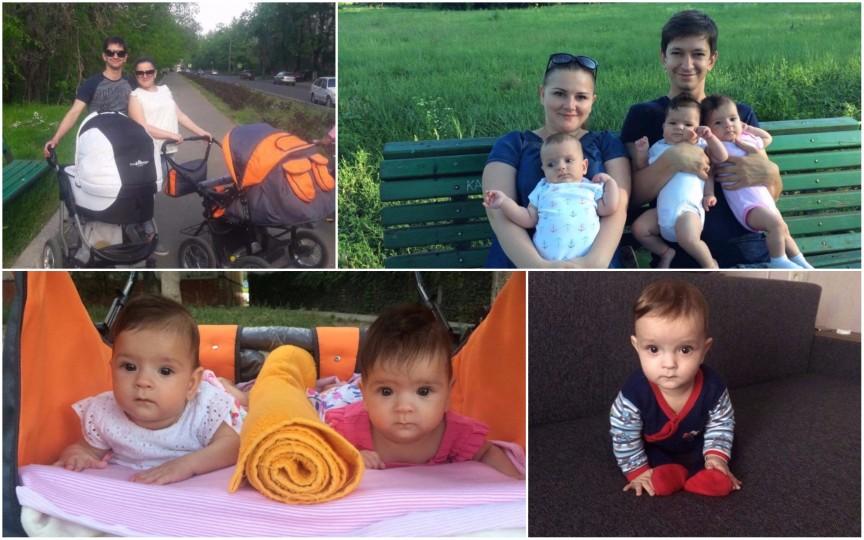 Mamă de tripleți: Am visat că vom fi din nou părinți de tripleți și m-am speriat
