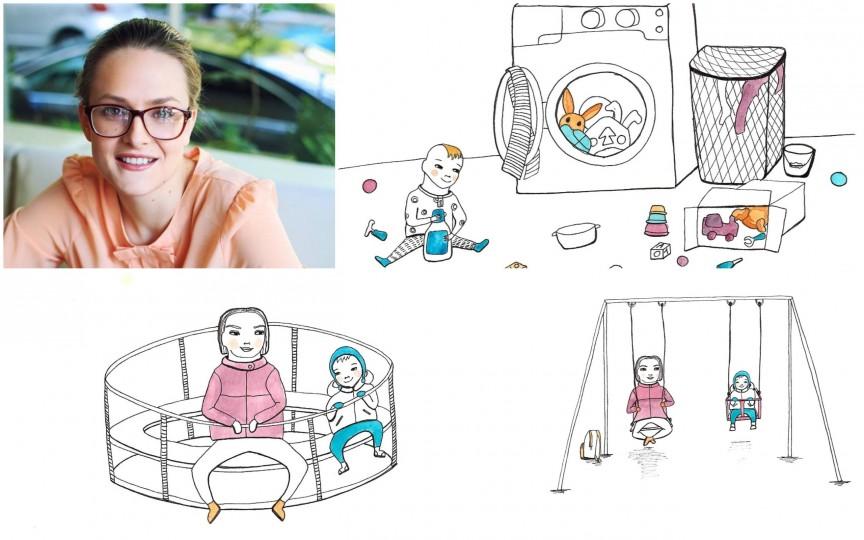 Proiect exclusiv pentru Odoraș: O ilustratoare din Moldova prezintă în imagini cum e să fii mamă