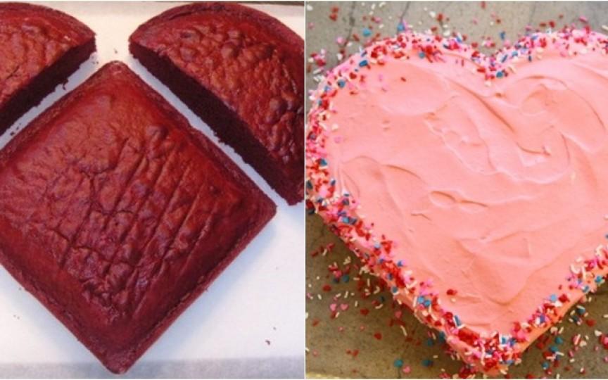 Cum să faci un tort în formă de inimă