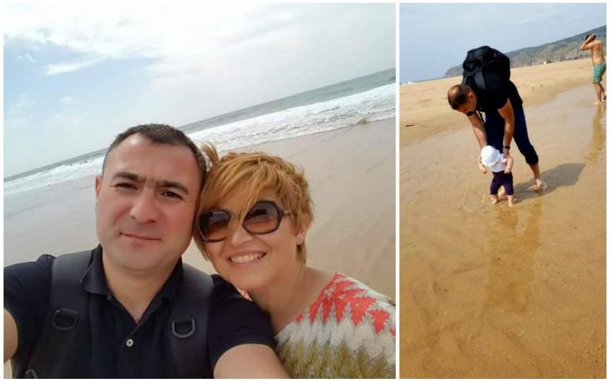 Oxana Iuteș, alături de familia sa, într-o vacanță în Portugalia