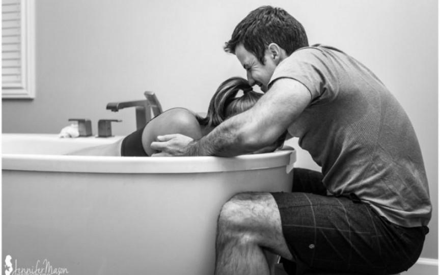 Cum participă tatăl la naștere. Imagini senzaționale!