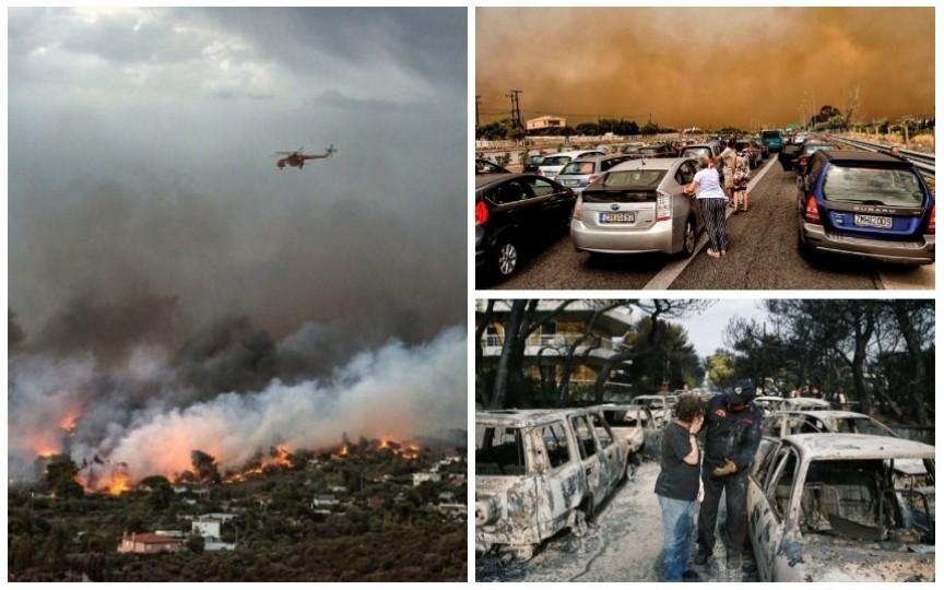 Imagini și dezvăluiri devastatoare: Sute de familii și-au părăsit locuințele fugind din calea incendiilor în Grecia