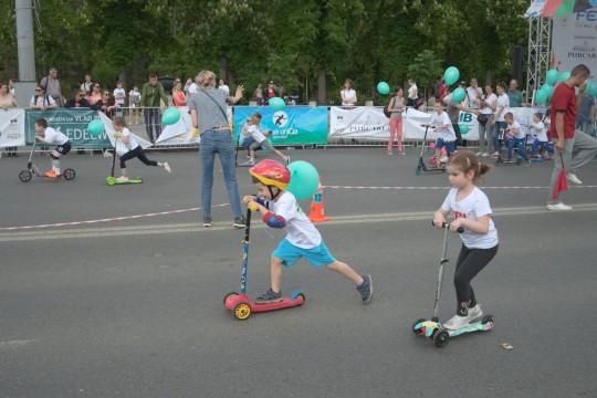 Cele mai rapide trotinete au fost surprinse la Olympic Fest 2019