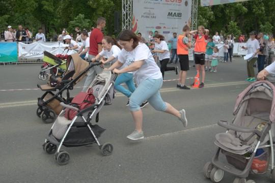 (VIDEO) Cei mai iuți părinți de picior au participat la Olympic Fest 2019