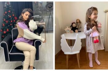 (FOTO) Fetița creatoarei Elena Bivol e o adevărată fashionistă. Mămica a arătat cum stă micuța la manichiură